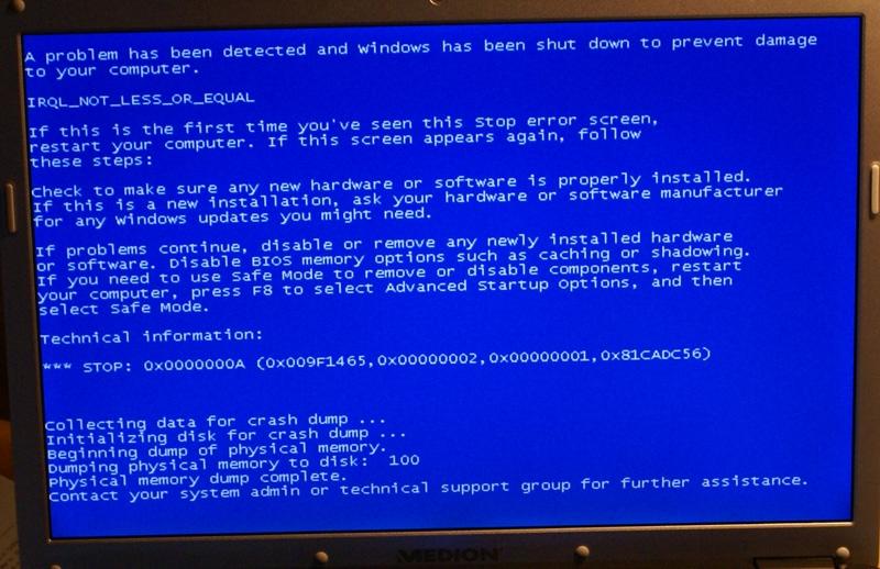 ding over op blauw scherm